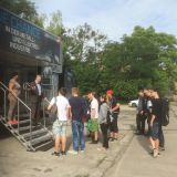 Schüler in Eberswalde besuchen den M+E-InfoTruck