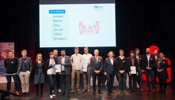 Die Finalisten der zweiten Phase des BPW 2018 in der Kategorie BPW Plan.