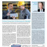 Titelseite, Cover, M+E-Report, 01/2020, Aktuelles, Metall- und Elektroindustrie, Berlin, Brandenburg