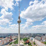 Berlin, Fernsehturm, Skyline, Himmel