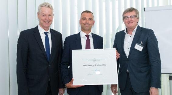 VME-Mitgliederversammlung 2019: Auszeichnung der MAN Energy Solutions SE